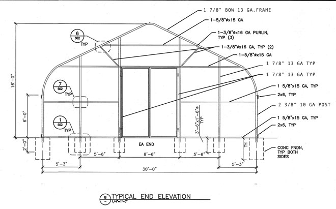 Hightunnel greenhouse kits for Gothic greenhouse plans